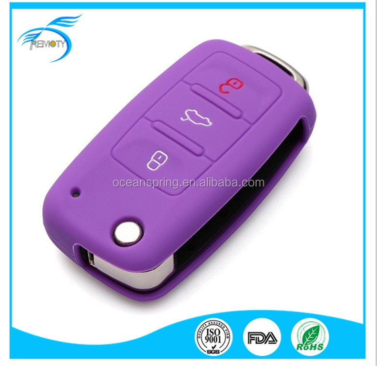 Soft Silicone Remote Car Key Skin Cover Protactor Key Cover For VW