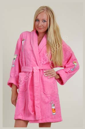 appliqued bathrobe100 cotton terry clothshort robe buy bathrobe product on alibabacom - Terry Cloth Robe