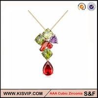 Fish shaped Price made with swarovsky jewelry , diamond jewellery,fashion jewelry wholesale