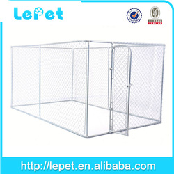 Custom logo high quality metal cheap chain link 6ft dog kennel cage