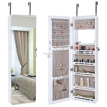 Wall Mount Jewelry Cabinet Lockable Jewelry Armoire Full Length Mirror