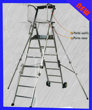 Aluminum Folding Adjustable Platform Step Ladder