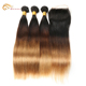 100% human hair weft ombre colored hair weave micro ring /easy loop hair extensions