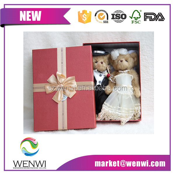 Luxury Wedding Teddy Bear Display Packaging Box