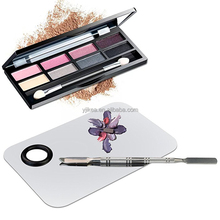 14.8cm Cosmetic Mixing Palette with Metal Spatula Makeup Palette
