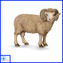 OEM resin life size sheep animal statues, large animal figure