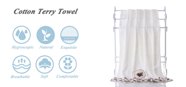 90*150cm 100% cotton embroidery big anime bath towel brands in india