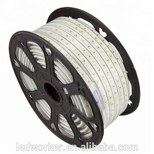 Best Quality 40M 50M 100M 110V 220V 60 Ledm 5050 Rgb Waterproof Ip67 Solar Led Rope Light Strip