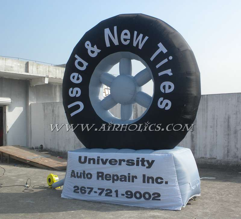 giant inflatable balloon tire