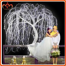 Outdoor hanging ball lights cold white led weeping willow tree
