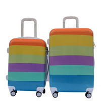 Rainbow Ptinting ABS and PC Hard Rolling Case