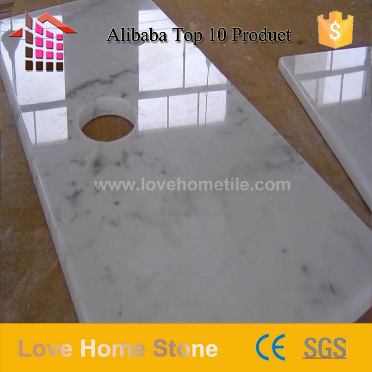 Cheap marble slabs white marble effect porcelain tiles for hotel wall
