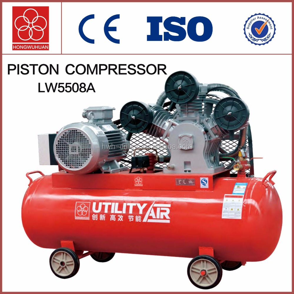 LW5508A 3 cylinder piston kompresor with best electric moters and stainless steel tank