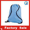 Custom 210D polyester cheap promotional blank drawstring polyester bag