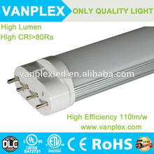 Top quality CE ROHS ETL cool white SMD2835 900lm 2g11 led tube
