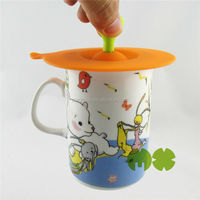 Fashionable ceramic travel coffee mug silicon lid,custom silicone mug cover lid,hot sell lovely silicone mug cup lid