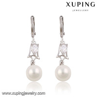 91437-2016 Xuping Fashion Trendy Pearl Earrings Jewellery For Girls Design