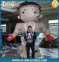 2016 newwest Advertising inflatable moving cartoon , inflatable character with long legs