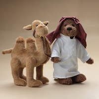 Soft Plush Arabian Teddy Bear Pulling Camel/Stuffed Camel and Teddy Bear Customized Toy/ Stuffed Animal Toy Camel