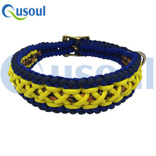 550 Paracord Dog Collar, Custom dog collars With adjustable Buckle , Orange Camo,Yellow, blue