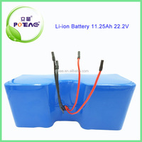 China manufacturer 18650 11.25Ah 24v lithium battery for electric bike