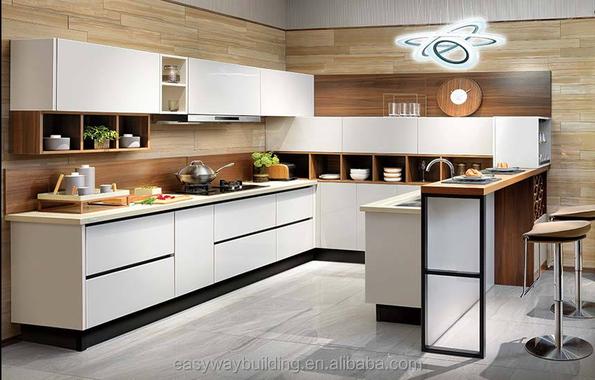 Modern Home Hotel Furniture Island Wood Kitchen Cabinet