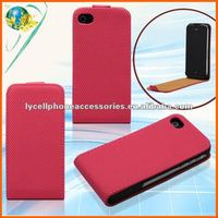 For Apple iphone 4G 4S Fashion Design Hard Flip Mobile Phone Leather Cover