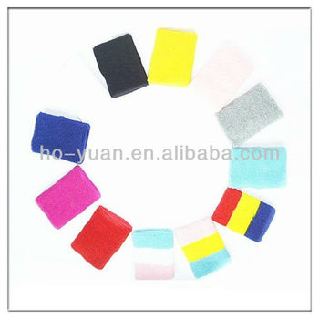 Cotton assort sport wristband mixed color sweatband