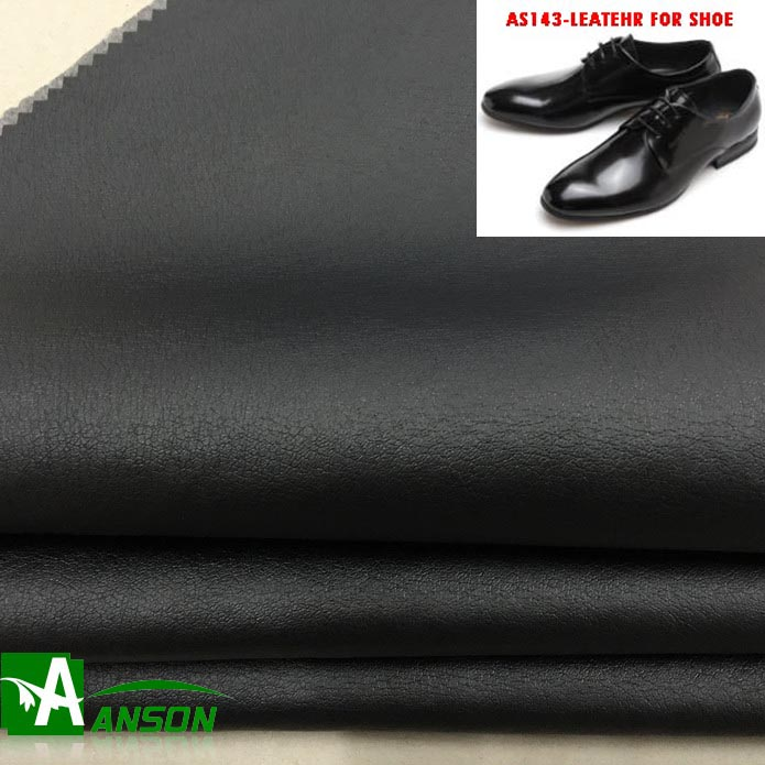 143 synthetic leather for shoes meter price production line microfiber manufacturer polyurethane pu leather with non woven back