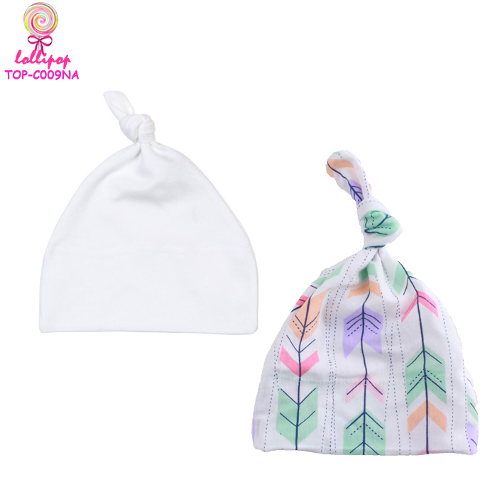 New design knit beanie baby winter multicolor adjustable top knot hat wholesale cute boy kid soft cotton beanie newborn hats