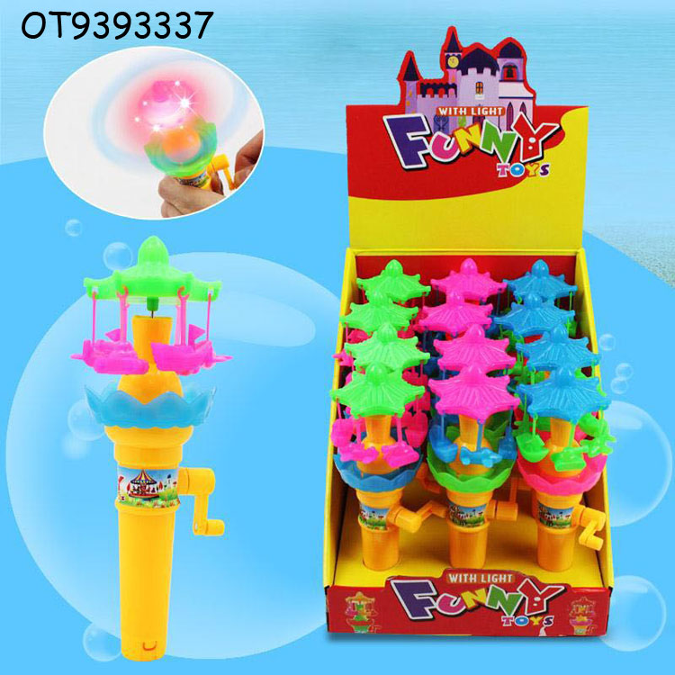 Wholesale plastic surprise candy pack bottle toy with hand shake lamp OT9393337