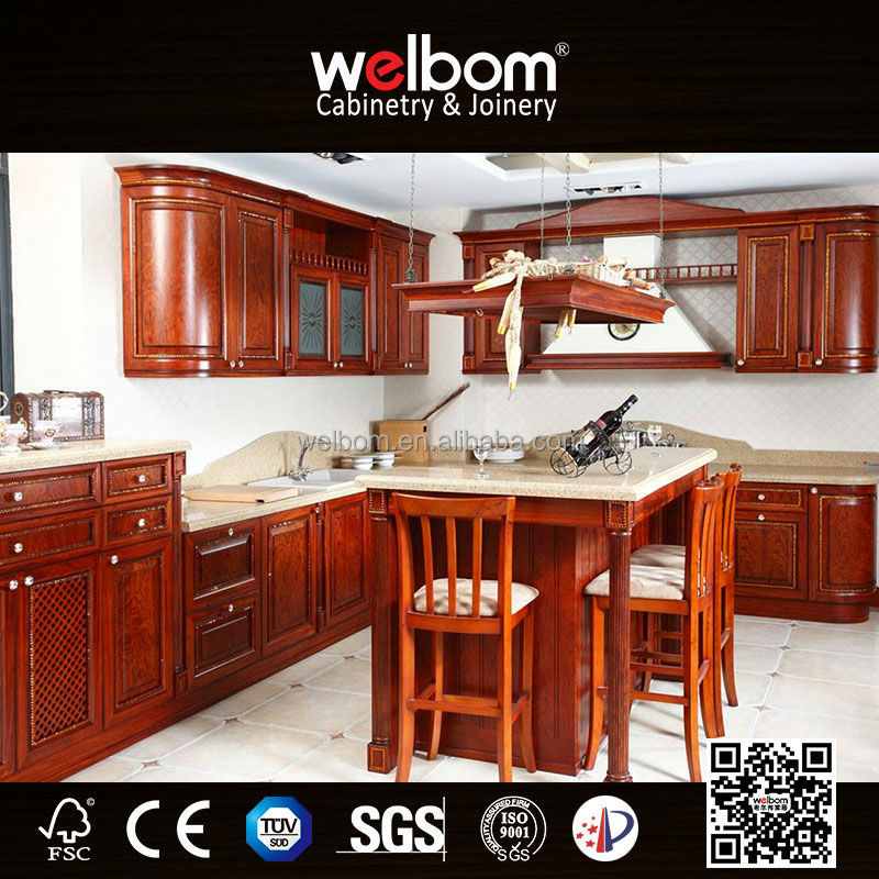 2015 Welbom Solid Wood Professional Modern Pantry Cupboards