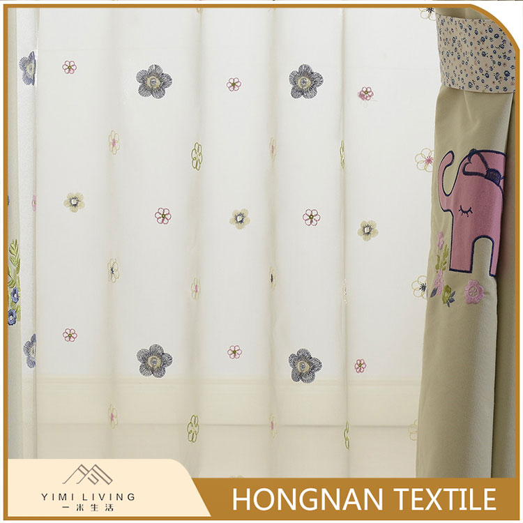 Low price of manufactory wholesale elegant embroidery fancy voile curtain