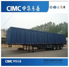 CIMC High quality tri-axles van type / box truck semi trailer