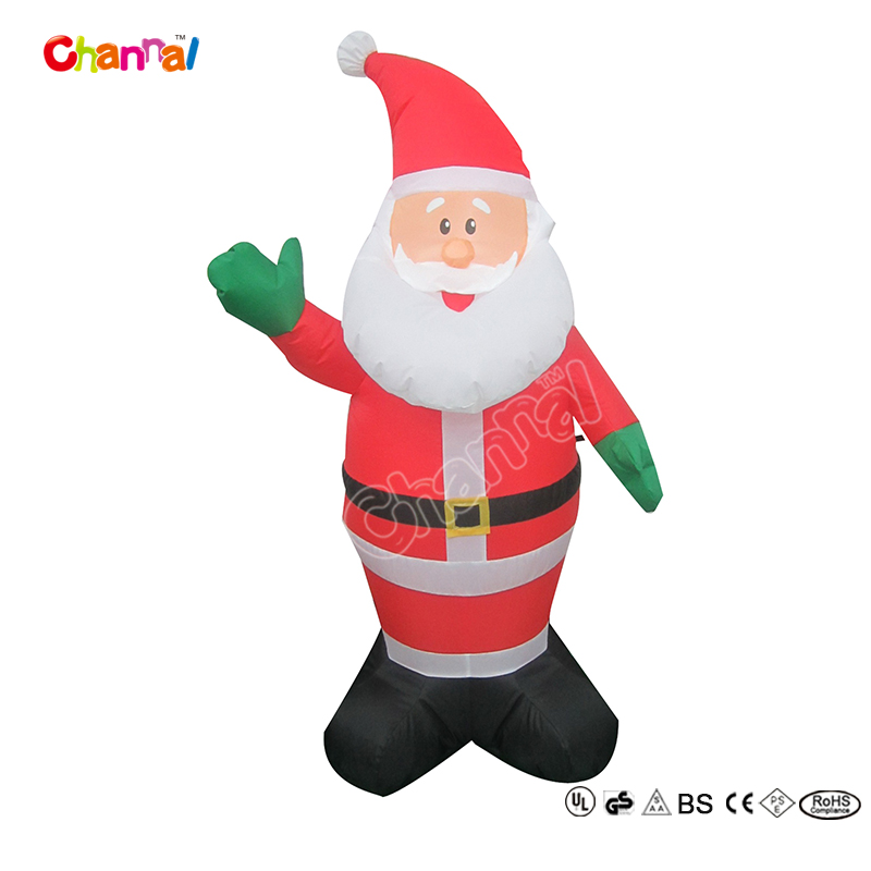 Factory china christmas santa claus inflatable for holiday decorations