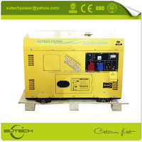 Mobile and silent type genset 10kva uses air cooled engine