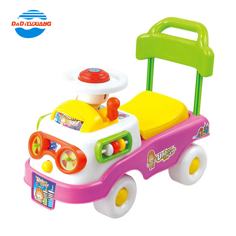 Bright color cartoon indoor play baby swing <strong>car</strong> with music