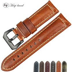 Whole Sale Best Price Brown Oil Wax Leather Band Watch strap