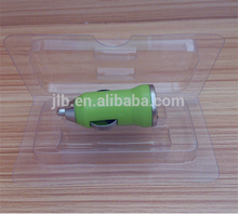 Wholesale cheap PET plastic blister packaging for USB car charger /electronic accessories