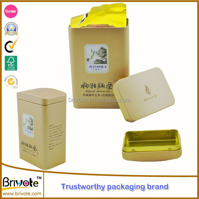2015 hot sale Factory price wholesale custom tea tins