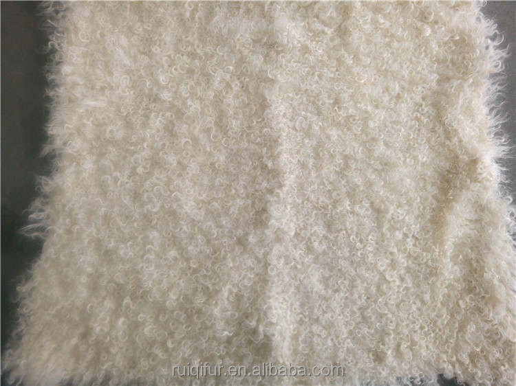 Top quality factory price Kalgan lamb curly hair Fur plate kougao blanket rug