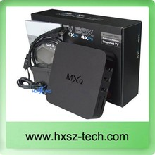 Cheapest quad core mxq internet satellite receiver android smart tv box