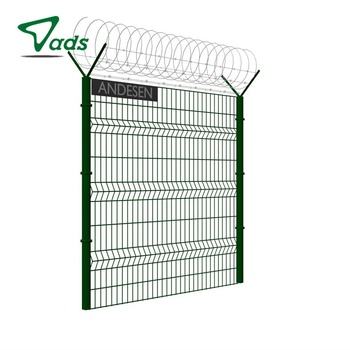 Widely used 3d pvc welded curvy wire mesh fence