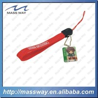 custom ribbon offset printing metal mobile phone hanging accessory