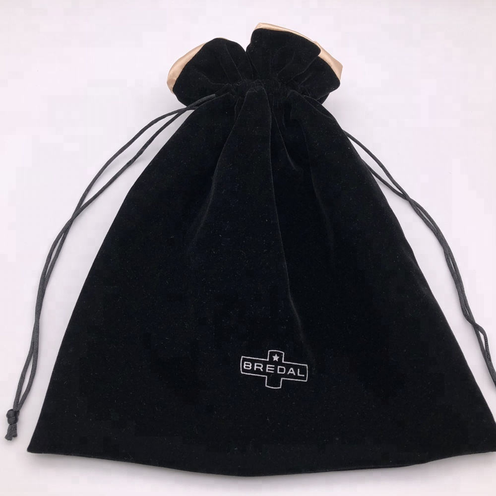 Large Velvet Drawstring Dust Bag With Satin Lining