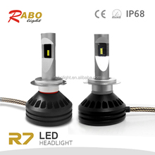 Luces led auto Rabo R7 Fanless Philipses ZES LED Headlight motorcycle light bulb h4 H7 H8 H11 H1 H3 9005 9006