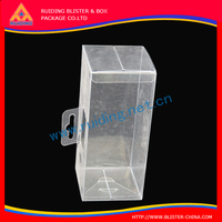 recycled Custom high quality lure p packaging plastic square clear box for pen