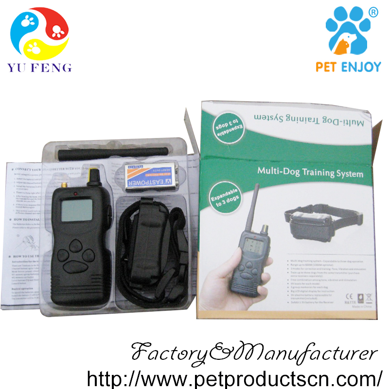 High Quality Pet Trainer 3 Dogs Training Collar, Remote for 1000M Meter