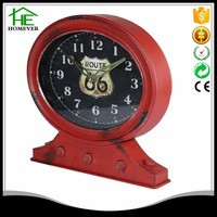 red metal promotion decoration table clock analog