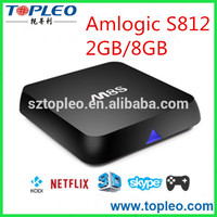 Dual channel WIFI 2.4G/5G wifi Android 5.1 Amlogic S812 Full HD Smart TV BOX